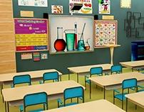 Classroom - 3D Model
