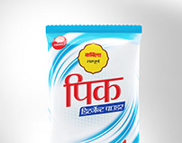 Pick Detergent powder packaging design