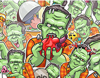 Frankenstein. Telegram official sticker pack.