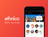 Ethnico Mobile App Design