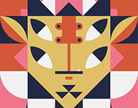 Geometrical patterned characters