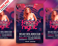 Party Invitation Flyer Template PSD