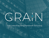 GRAIN - logo for a website building framework