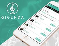 Gigenda - Concerts mobile app