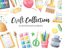 Free Design of the Week - Watercolor Craft Collection
