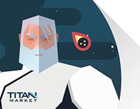 Five illustrations for «TITAN MARKET»