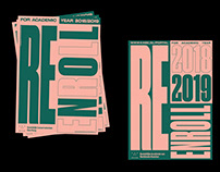 RE-ENROLL Campaign Identity Royal Academy of Art KABK