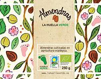Label for Packaging. La Huella verde.
