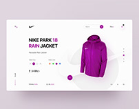 Nike raincoat UI design concept