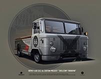 """GAZ-66 custom car """"Zhelezniy trudovik"""""""