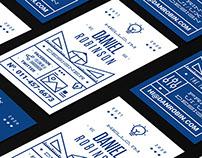 Typographic Namecard Template