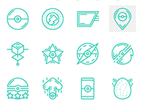 Free line icons - Pocemon Go (vector icons)