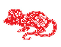 Rat, ox, tiger, cat, dragon, snake, horse, goat, monkey