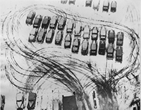 Parking lot in Chicago, László Moholy-Nagy, 1938.