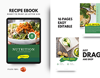 Nutrition for your life ebook template
