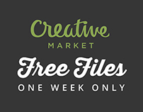 Creative Market FREE Files + Extras Hurry up!