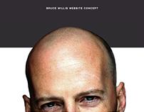 Bruce Willis website concept