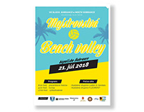 Poster graphic for volleyball tournament