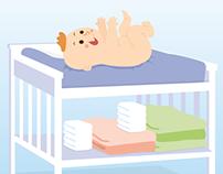 Baby skin care infographic (German)