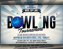 Bowling Night Flyer Template
