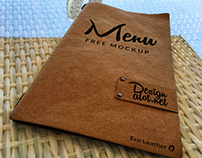 Eco Leather Menu Free Mockup