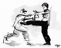 Encre de chine : kung fu/wing chun