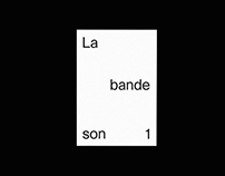 La bande son #1 —Bookzine, 2016