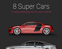 8 Super Cars Mock up