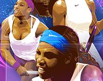 Serena Williams 22nd Title Commemorative Poster