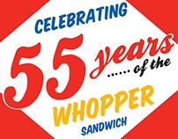 whopper's 55th anniversary