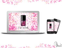 "wallpaper ""I LOVE NAIL ART"" for phone and laptop !"
