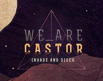 """We Are Castor - """"Invade & Disco"""" Album Cover"""