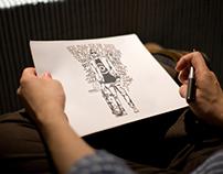 Illustration Sketch Close-Up Logo Mock-Up Bundle