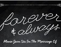 Chalkboard Style Wedding Package