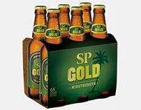 SP Gold beer packaging
