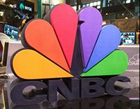 CNBC Logo, 3D Printed