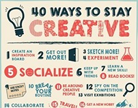 40 Ways to Stay Creative - Infographic