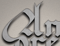 Caligraphic Poster - Blackletter Name
