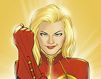 Captain Marvel Covers