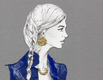 The Paper Doll Series: Denim and Gold