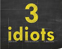 "Afiche para la película ""3 idiots"""