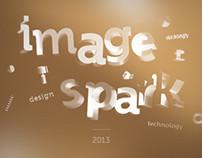 Identity, font, presentation, showreel for imagespark