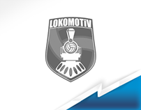Lokomotiv Volleyball jersey design.