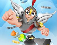 Start-up screen for 'Titan Jump' an iOS game