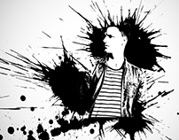Ink splash photo effect