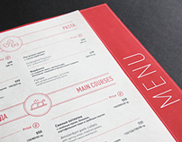 "Menu design for ""The Amsterdam"" restaurant"
