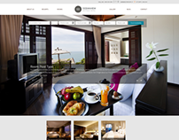 Web layout for travel category