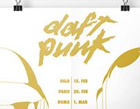 Daft Punk Tour Poster