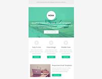 Noxa, Responsive Minimalist Email Template