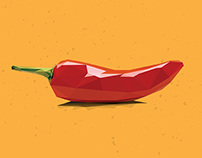 Low-Poly Chili Pepper